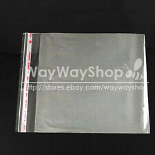 50 100 300 CD DVD R Disc Case Holder Storage Plastic Wrap Sleeves Bags Clear