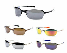 X-Loop Sunglasses Metal Frame Mirrored Revo Lens Sports Shades Sunnies New XL111