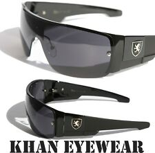 Mens oversized Sunglasses Khan eyewear SHIELD SPORTY WRAP AROUND BIKER SHADES