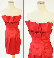 JESSICA McCLINTOCK $100 Red Homecoming Evening Cocktail NWT- Size 3