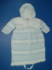 Boys Prams Snuggle Suits Friedknit Creations NB Faded Glory 3-6M All Mine 6-9M