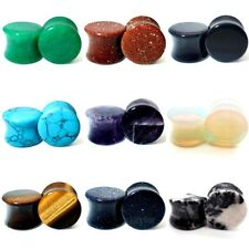 STONE EAR PLUG SEMI PRECIOUS STRETCHER TUNNEL TAPER SADDLE 3MM -28MM