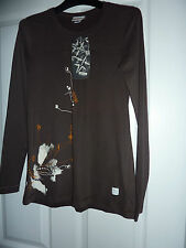 Really Cute OXBOW Brown Afrik Long Sleeved T-Shirt NWT