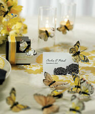 Butterfly Spring Wedding Party Table Decoration Set Hand Painted Feathers