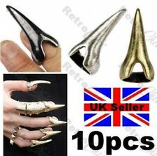 10pcs CLAW finger tip TALON FINGERTIP RINGS long nails PUNK CLAWS black GOTH