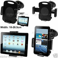 Black 360 Degree Universal Car Windscreen Suction Holder 4 Tablets 10 To 20.5cm