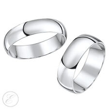 D shaped  Platinum 3&5mm / 4&6mm His & Her's Set Wedding Ring Bands