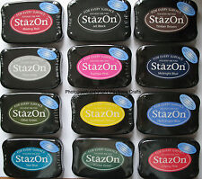 Stazon INK PADS for use on metal glass plastic paper &  more Assorted Colours