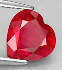 AAA Rated Heart Faceted Bright Red Lab Created Ruby (Size 4x4mm to 14x14mm)
