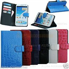 Crocodile Leather Wallet Case Cover Pouch For Samsung Galaxy Note 2 II N7100 UK