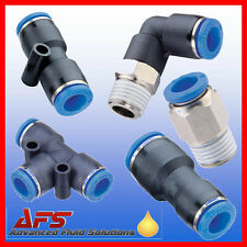 Pneumatic Push In Fittings for Air/Water Nylon Pipe/Tubing/Tube Choice Thread