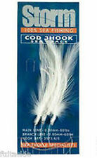 STORM SEA FISHING - COD TRACE 3 HOOK WHITE 80LB 6/0 HOOKS BULK DISCOUNTS