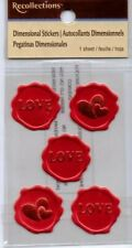 Recollections VALENTINE variety stickers~Dimensional~ BNIP~Many to choose from