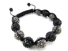 12MM ICED OUT DISCO BALL HIP HOP MACRAME CZ PAVE BEADED BRACELET