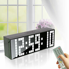 Digital Large Big LED Countdown Remote Control Stopwatch Date Wall Alarm Clock