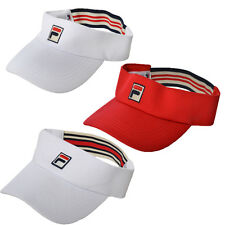 FILA Retro Golf Tennis Visor Cap Hat - Mens Womens - One Size Fits All