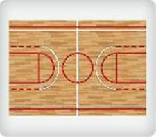 BASKETBALL COURT EDIBLE IMAGE BACKGROUND! CAKE/CUPCAKE/COOKIE! FREE SHIPPING!