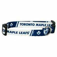 NEW TORONTO MAPLE LEAFS PET SET DOG COLLAR LEASH ID TAG ALL SIZES