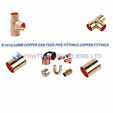 8mm/10mm/15mm/22mm/28mm COPPER END FEED PIPE FITTINGS COPPER FITTINGS..