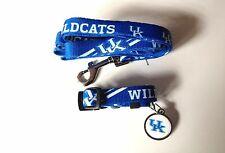NEW KENTUCKY WILDCATS PET SET DOG COLLAR LEASH ID TAG ALL SIZES