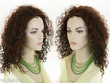 Mid length curly layered wig with tight slightly wet gelled looking ringlets
