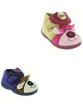 Girls Boys Bedroom Slippers Navy Pink Childs childrens Size 2 To 10 Soft