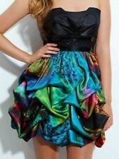 SPEECHLESS Sexy Colorful Print Strapless Short Prom Homecoming DRESS New Jrs 3