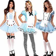 Alice in Wonderland Fancy Dress Fairytale Costume Outfit Many Styles Many Sizes