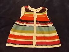 NWT Girl's Gymboree Woodland Friends striped pink brown sweater ~ 3T 5T