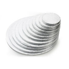 Silver Round Cake Drum Boards 12mm Strong Base 5 - 16 inches