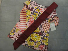 NWTs Persnickety Gayle Pink Brick Tunic Top and Sash 6 or 7 Ship FREE