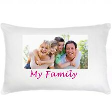 Personalised Photo Pillow Case with your Photo and/or Text. One side or Both.