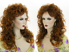 Glamorous 22 in Long Curly Wavy Gypsy Shag Style Blonde Brunette Red Wigs
