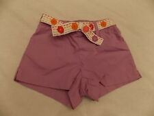 NWT Girl's Gymboree Pretty Posies purple elastic flower shorts ~ 12-18 months 2T