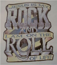 CHRISTIAN OUTFITTERS JESUS IS MY ROCK & I AM ON A...  INSPIRATIONAL SHIRT #1177