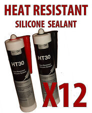 12X HIGH TEMPERATURE HEAT RESISTANT SILICONE SEALANT HT30 HEAT MATE