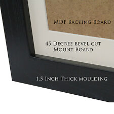 BLACK Photo Picture FRAMES with MOUNTS - Various Sizes Available