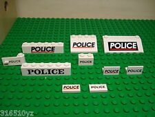 Lego - Police Printed Bricks Tiles etc - Qty x1 - Choose from list