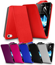 FLIP LEATHER SERIES CASE COVER SONY XPERIA J ST26I + SCREEN PROTECTOR