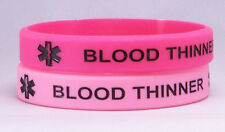 Blood Thinner 2 pack Pinks Medical Bracelet