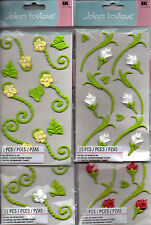 Jolee's non-edible ICING FLOWER embellishments~several varieties~BNIP~Nice!