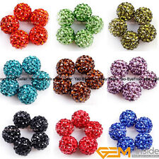 10mm Pave Swarokski Crystal beads mixed lots of colors Jewelry Making Design DIY