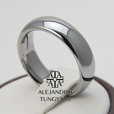 Alejandro Tungsten Carbide Ring 6MM Classic Elegant Design Shiny Band - TG006