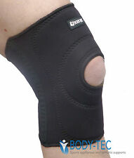 Black Neoprene Knee patella pull on support Stabilizer sprains arthritis NHS use