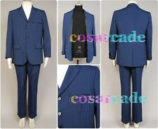 Who is Doctor Dr.Blue Pinstripe Business Suit Blazer Pant Cosplay Costume Outfit