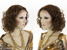 High Heat Resistant Glamorous Medium Length Lace Front Straight Wavy Wigs