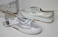 Superga Cotu Silver Lame 2750 sneakers shoes New in Box!