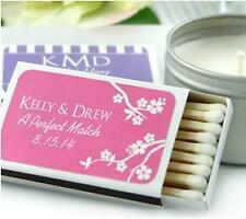 100 Personalized Monogram Wedding Supplies Matches Match Boxes Party Favor White