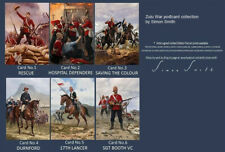 ZULU WAR RORKES DRIFT ISANDLWANA PRINTS POSTCARDS 24TH REGIMENT FOOT