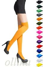 NEW LADIES OVER KNEE WOMENS HIGH THIGH STRETCH SOCKS STOCKINGS 60 DEN